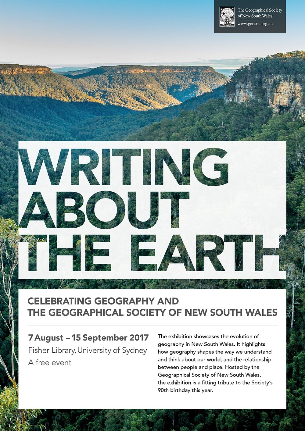 Writing about the earth - Celebrating geography and The Geographical Society of NSW